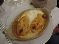 Seafood quenelles (like a fish souffle)