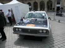 to the eventual rally winner, a Leyland P76 - heavily modified!
