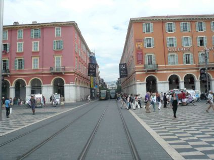 The new monorail runs through the city