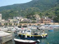 Some of the boats in the harbour in Monterosso