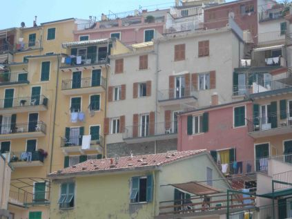 Manarola and its homes up close