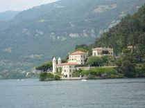 One of the many villas on the lake