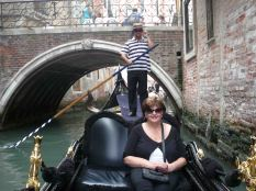 The gondolier (who is nicknamed Mr America for some reason) and me!
