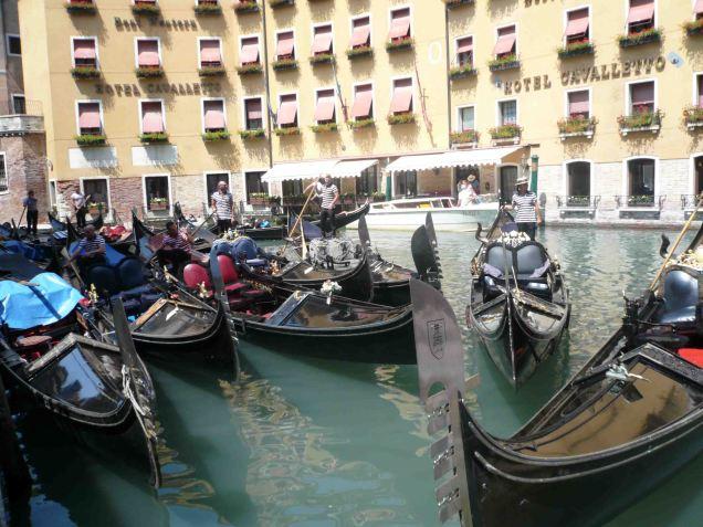 Gondola log jam!