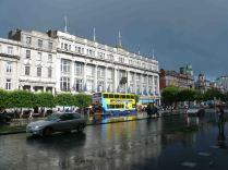Dublin public buildings in the rain