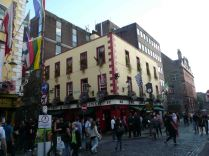 The Temple district - the hub of restaurants and original Irish pubs