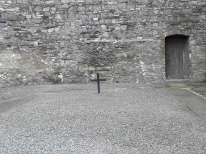The courtyard where the leaders of the 1916 Easter uprising were executed