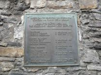 The plaque commemorating the execution of the leaders of the uprising