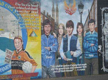 Murals on Falls Road