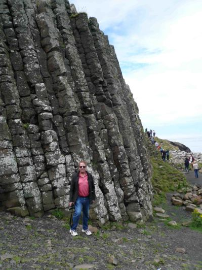Tony at the infamous Giant's Causeway