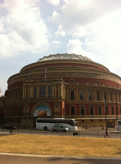 Royal Albert Hall, just off Kensington Gardens