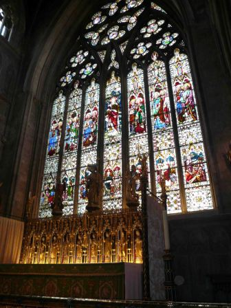 Ripon Cathedral's stain glass windows