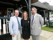 Following the official presentations, Tony as CA director with head of English Women's Cricket Claire Connor and the head of the English and Wales Cricket Board (ECB), Giles Clarke