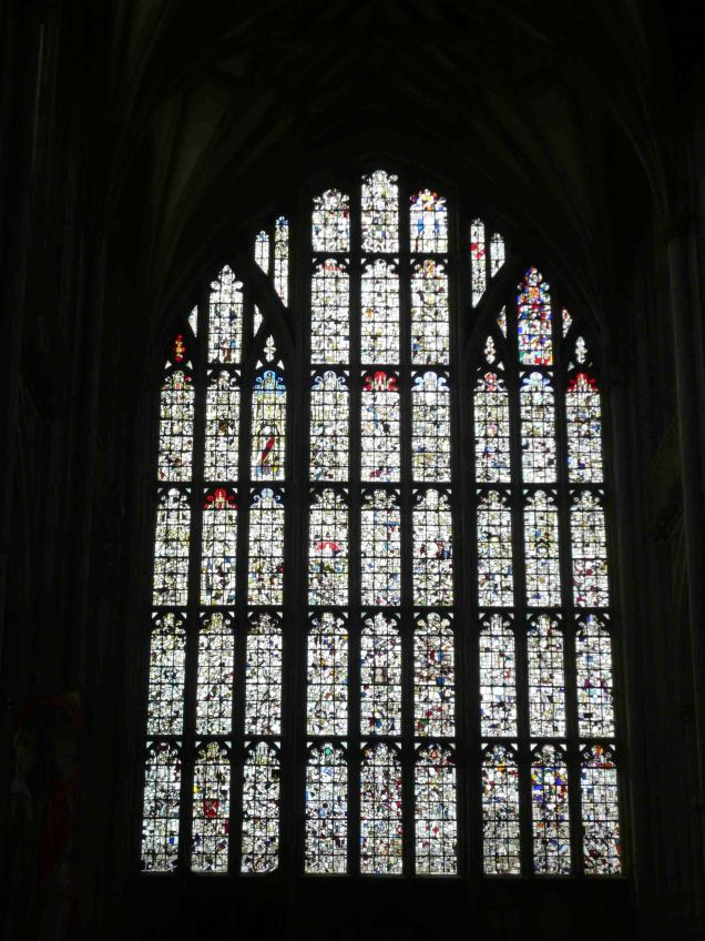 Beautiful stain glass in Winchester Cathedral