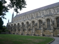 Side view of Winchester Cathedral