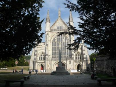 External view of Winchester Cathedral
