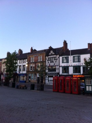 The beautiful buildings lining the market square
